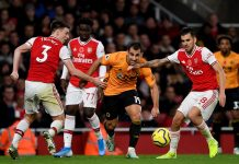 FOOTBALL - EPL - WOLVERHAMPTON V ARSENAL